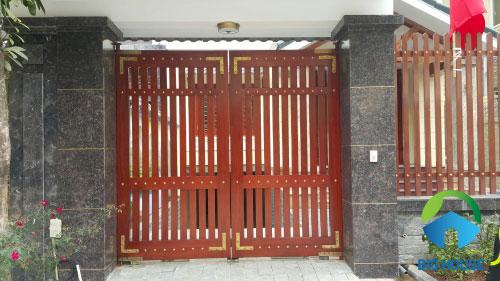 gạch giả đá ốp cổng 1