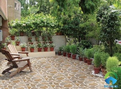 gạch giả đá lát sân vườn 1