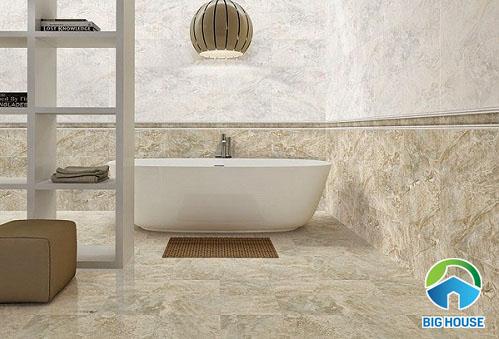 Gợi ý mẹo chọn gạch giả đá ốp chân tường cho không gian phòng khách
