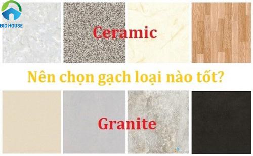Làm thế nào để phân biệt gạch ceramic và granite Đúng – Chuẩn nhất?