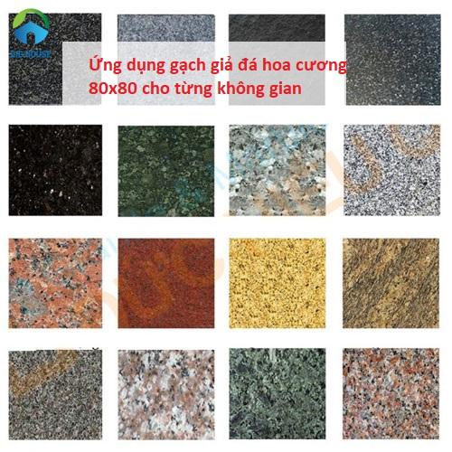 Gạch giả đá hoa cương 80×80 – Cách ứng dụng hiệu quả cho từng không gian