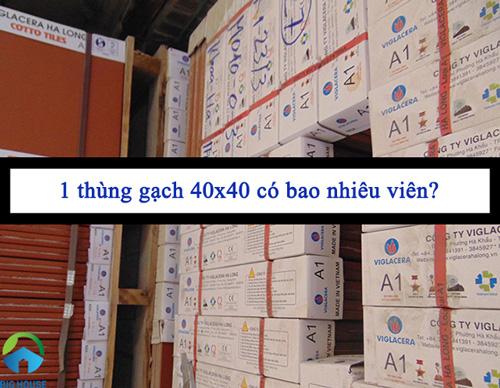 1 thùng gạch 40×40 có bao nhiêu viên? Giải đáp thắc mắc
